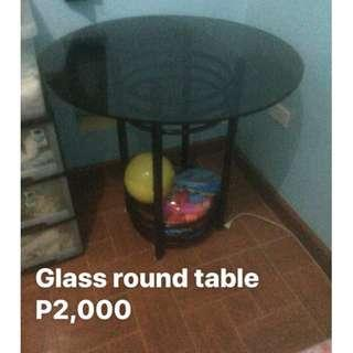 Glass round table [sacrifice sale cz moving out . . ]
