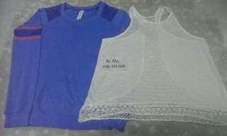 Sweatshirt & loose singlet shirt size s