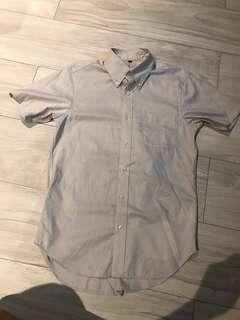 Muji men's short sleeve shirt恤衫
