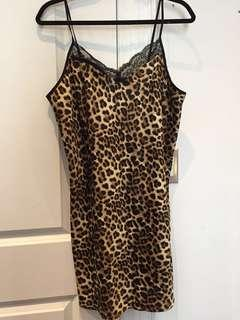 Cheetah slip dress