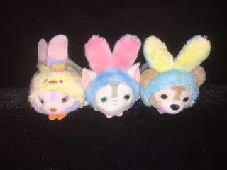 HKDL Hong Kong Disneyland Tsum Tsum Bunny Ver. Duffy Gelatoni Stella Lou