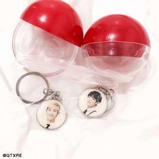 bts 3rd muster lucky draw keyring capsules
