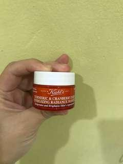 Kiehls travel size Tumeric & Cranberry Seed Mask
