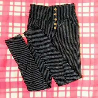 Stripe High Waist Stretchy Pants
