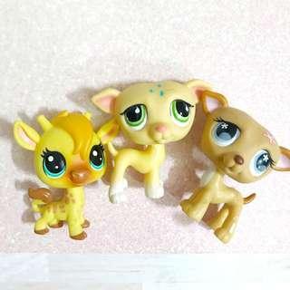 Littlest Pet Shop lps whippet / Greyhound dogs + giraffe