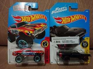Hotwheels OLDS 442 W-30 & 70 Dodge Charger