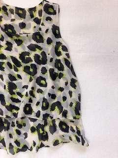 Cheetah Sheer Layer Top