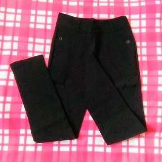 Black Slack Stretch Pants