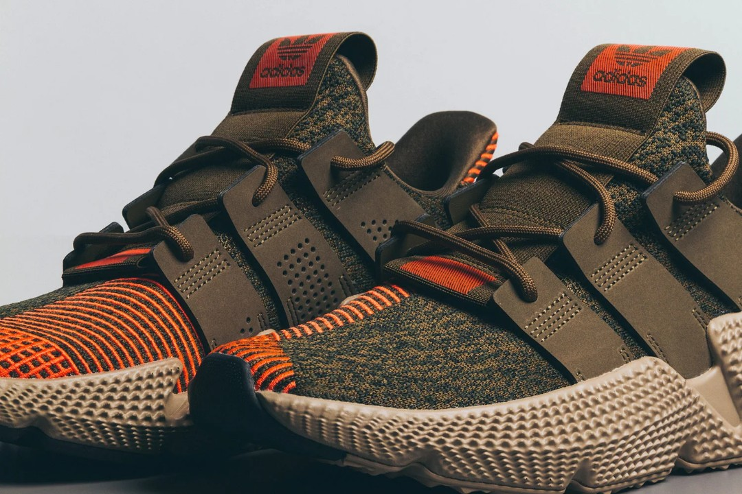 9a2b3558608e Adidas Prophere Trace Olive Solar Red US10.5