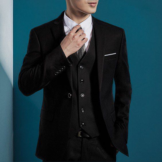 c369d6232aca All in One slim fit Men Suit Business Wear Formal Wear Blazer Vest ...