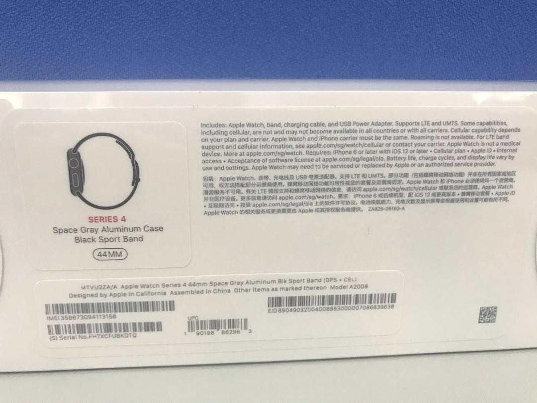 pretty nice cbdfe e93e2 Apple Watch Series 4 - GPS + Cellular 44mm Space Gray aluminum case ( black  sport band)