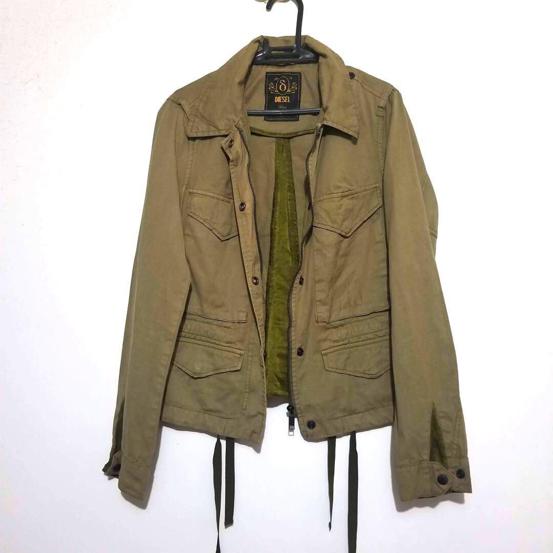 Authentic Diesel Army Green Drawstring Jacket