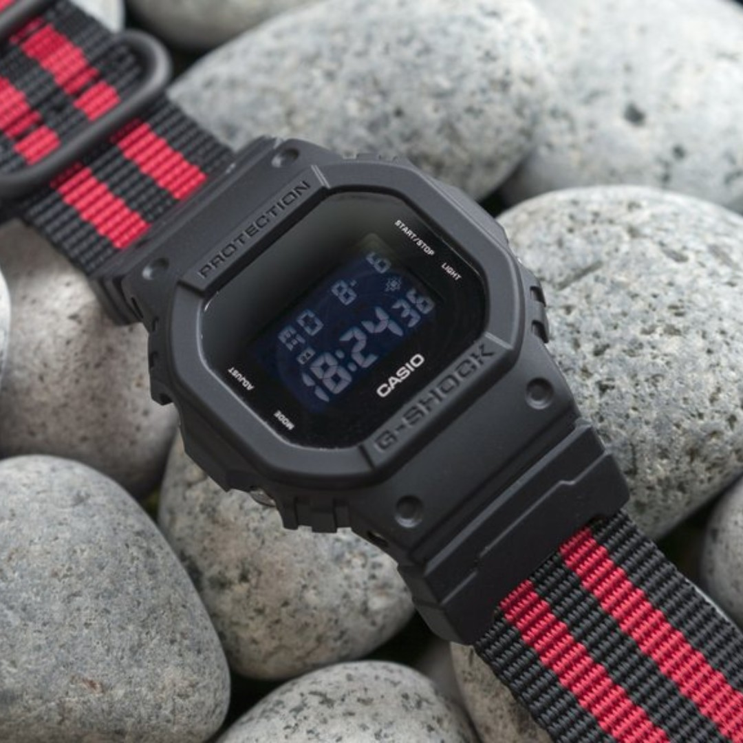 21bcc8b482e Ballistic Nylon Crimson Stripe Zulu Watch Strap with G-Shock Nato ...