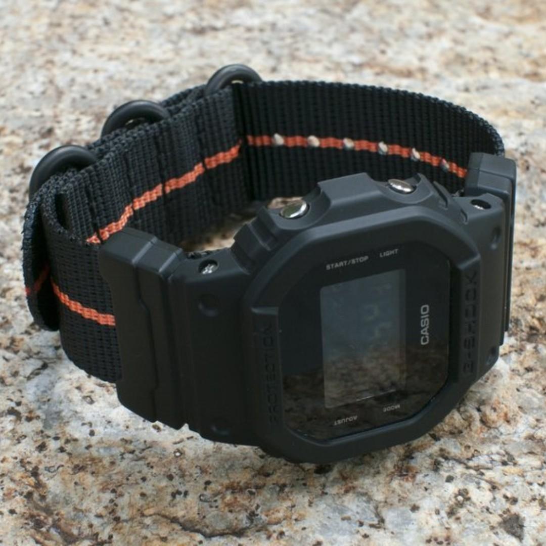 ebcf6d414fc Ballistic Nylon Fire Divider Zulu Watch Strap with G-Shock Nato ...