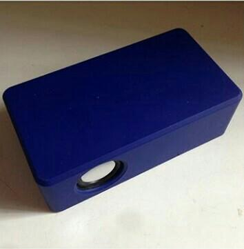 blue portable speaker