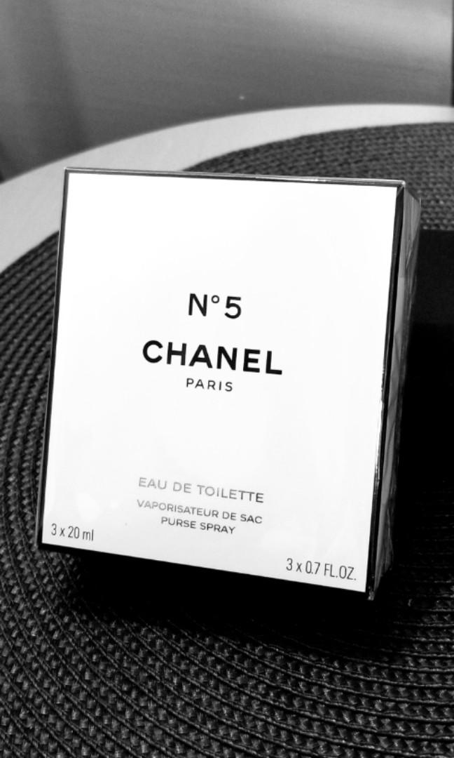 CHANEL N°5 Eau de Toilette Purse Spray 3x20ml