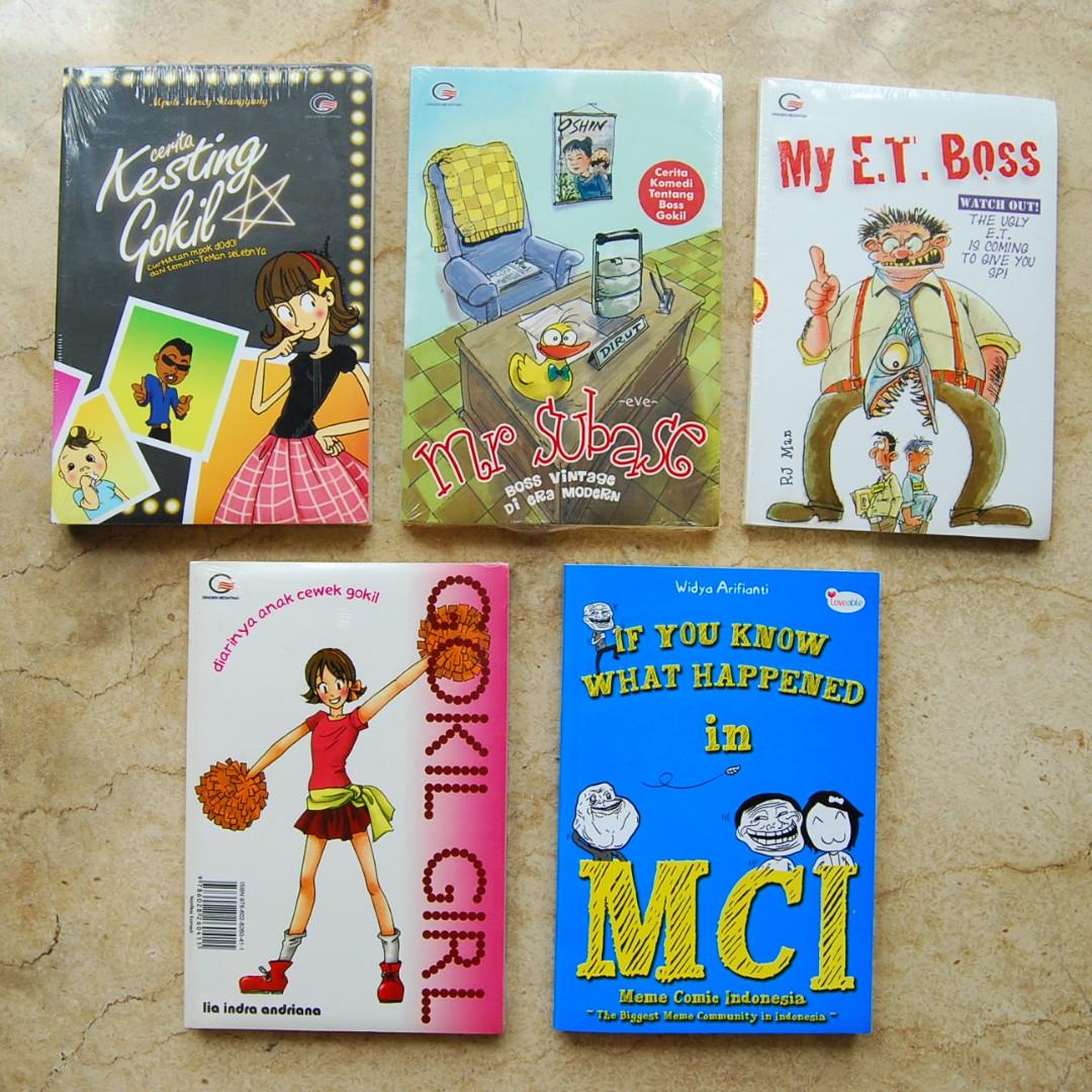 Buku Novel Nonfiksi Komedi Berbagai Penerbit Dan Cerita Lucu