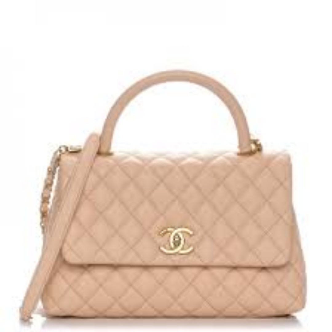 5e70d5c9c540 Chanel Mini Coco Handle in Beige Nude GHW
