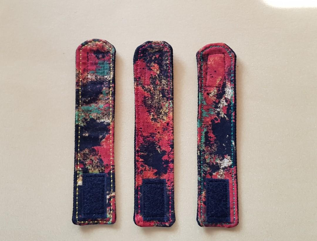 Cord ties,cord tidies, cord organisers for flat iron or hairdryer, upcycled denim, reversible, handmade. 1 of a kind