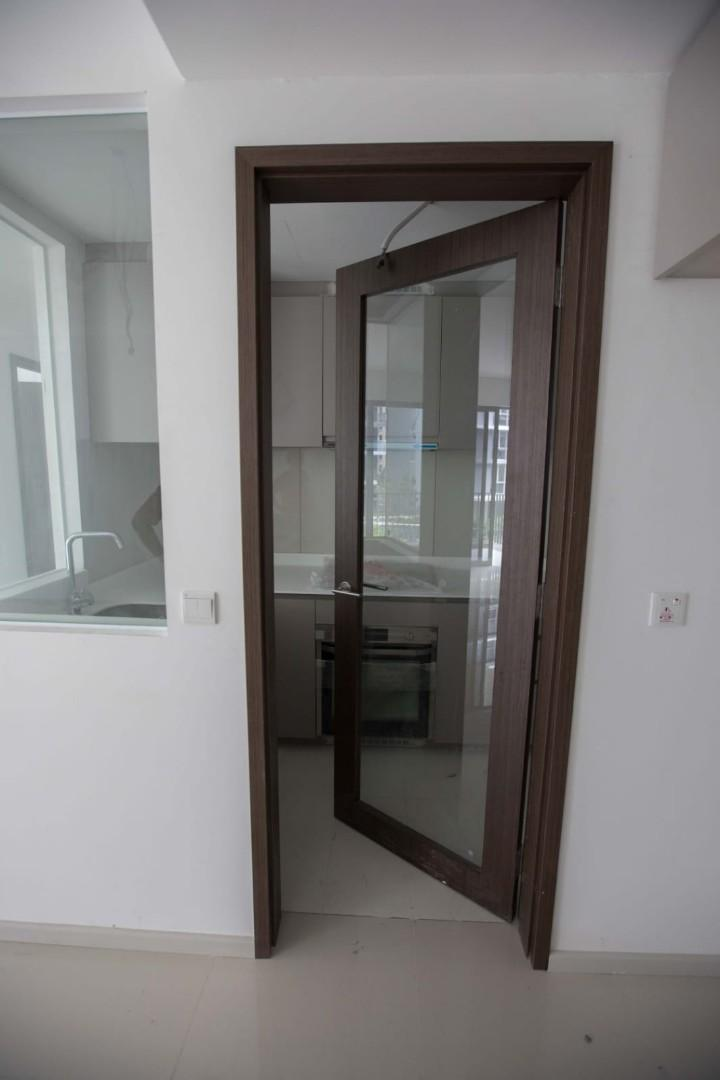 Door Wooden Frame Glass Centre Furniture Others On Carousell