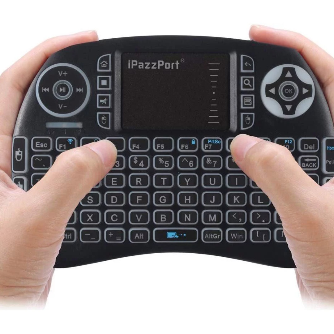 (E283) iPazzPort Backlit Wireless Mini Keyboard USB with Touchpad for  Android TV Box, Nvidia Shield TV, Raspberry Pi 3 KP-810-21SL