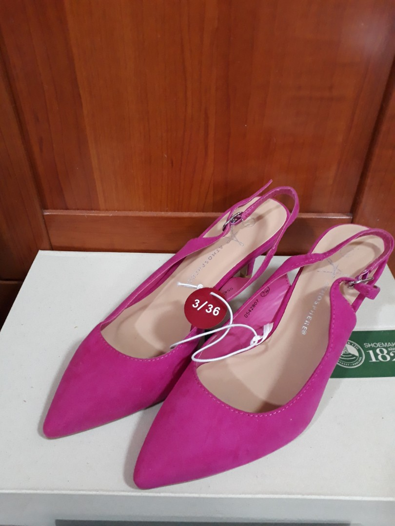 d8273436eb2 Fuschia Slingback Pointed Heels - Atmosphere