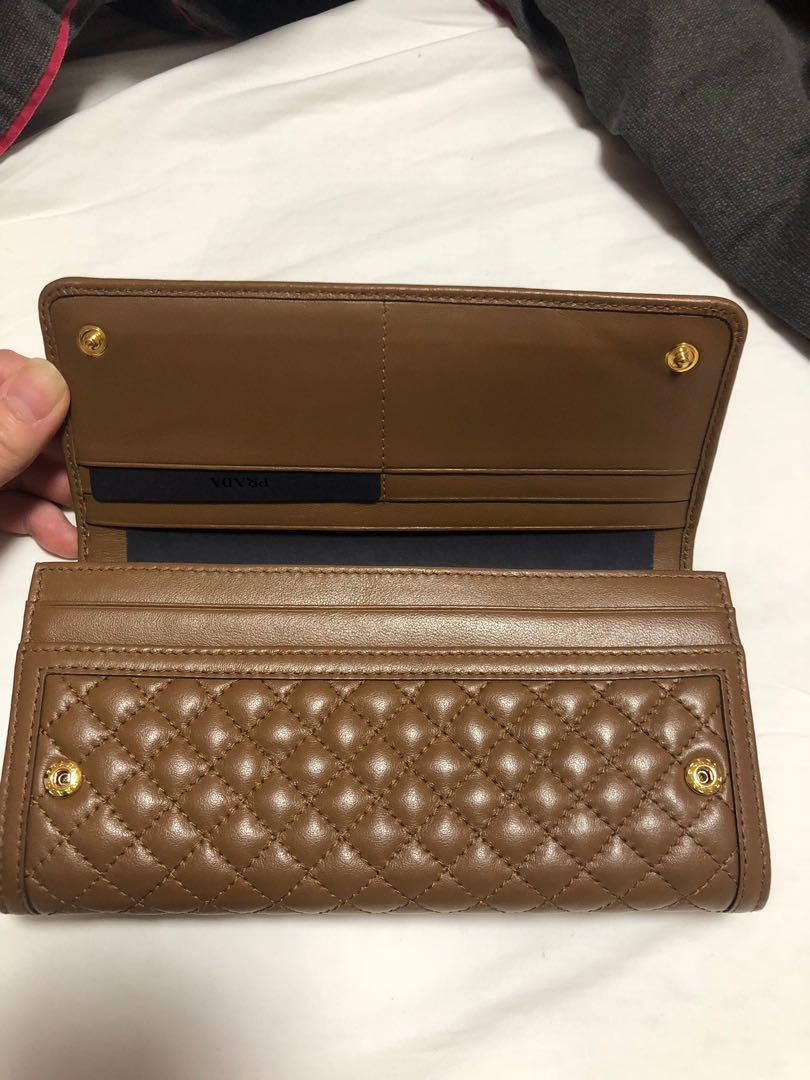 Genuine Prada Quilted Leather Wallet