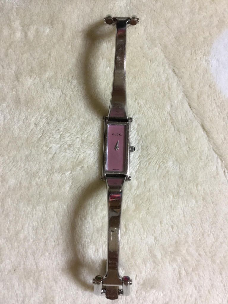89283cbe45c Gucci 1500L Silver Pink Dial Ladies Watch