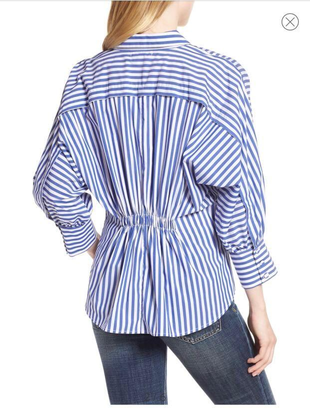 Habitual Assymetrical Stripe Blouse - Small (Pick Up Only)