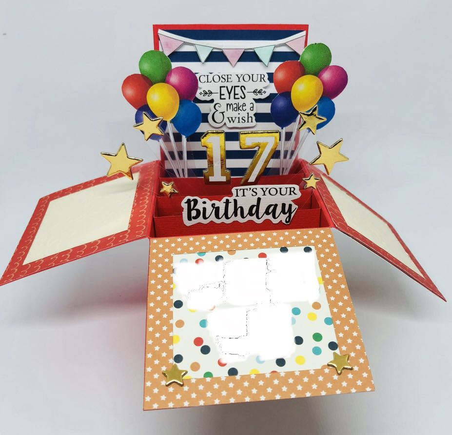 Happy Birthday Pop Up Card Hand Made With Actual Popping Effect