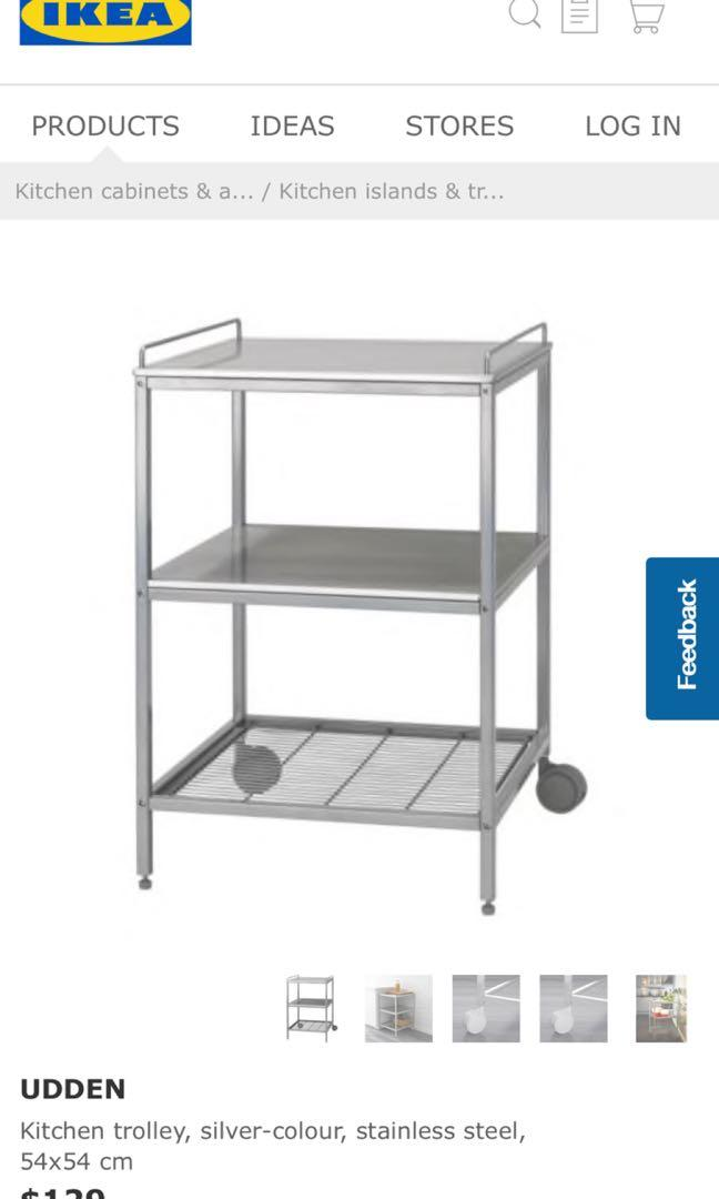 Ikea Kitchen Trolley Stainless Steel Home Appliances Kitchenware On Carousell