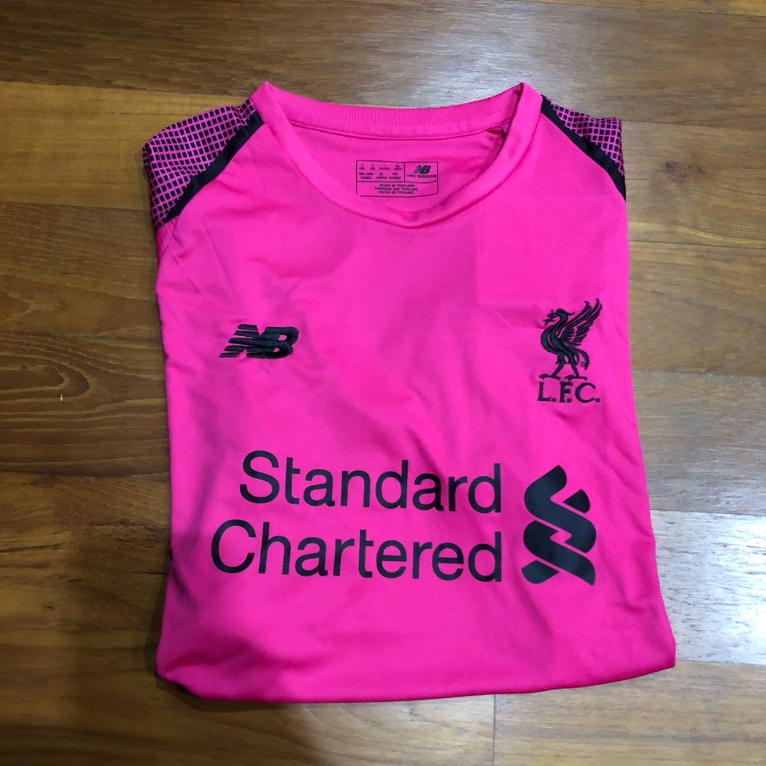 2e7150292 Liverpool 2018-2019 Goalkeeper Pink Jersey