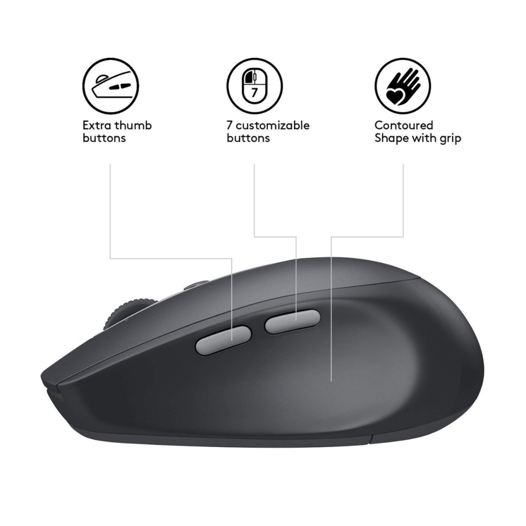 369adc842c4 Logitech M590 Wireless Multi-Device Silent Mouse Graphite, Electronics,  Computer Parts & Accessories on Carousell