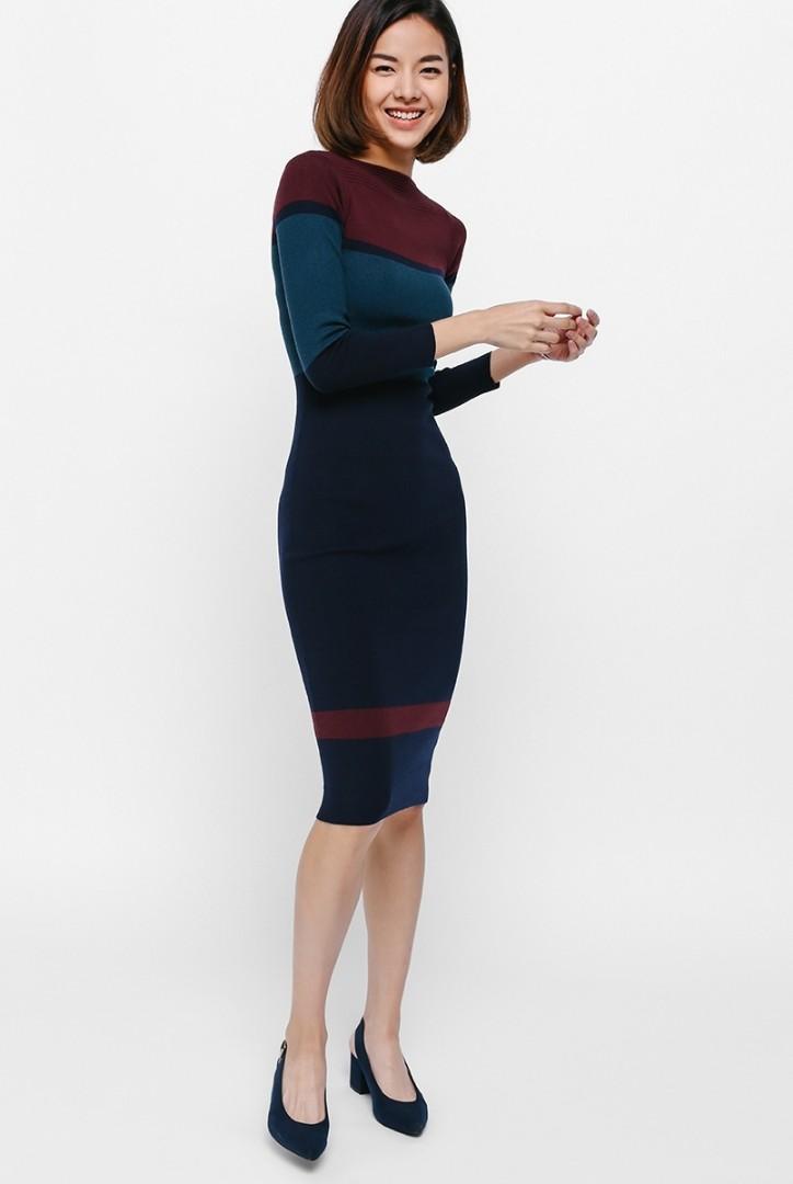 70d020960eb986 LoveBonito Tadia Knit Midi Dress, Women's Fashion, Clothes, Dresses ...