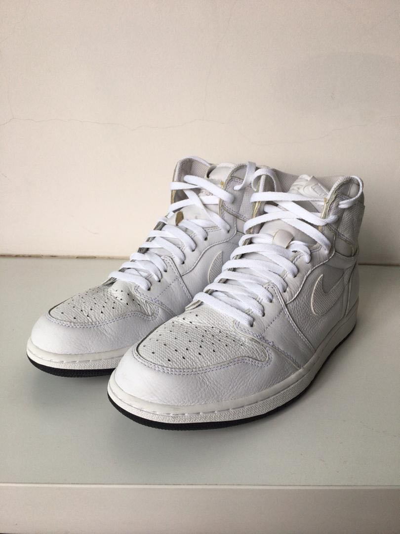 40760b6919f5 Nike Air Jordan 1 Retro High OG White