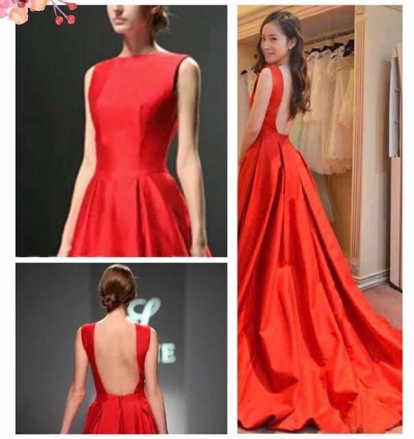 af8a8a306ab Red elegant backless gown