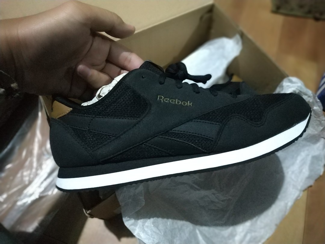 details for lowest price where can i buy Reebok classic inspired black brown size 45 BNIB barang original 100%  guarante