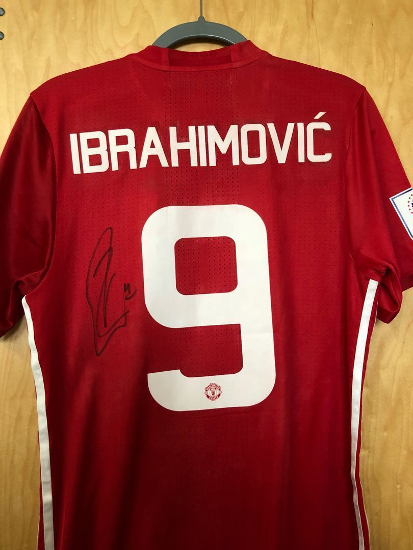 1ccb9838d Signed Zlatan Ibrahimovic Manchester United Jersey
