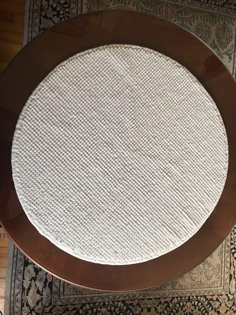 Small white bath mat
