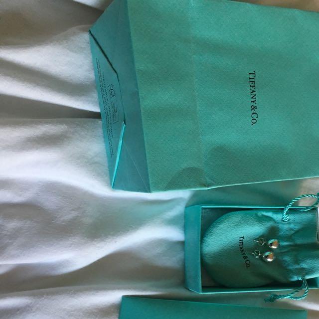 Tiffany & Co. Sterling Silver Ball Bear Studs