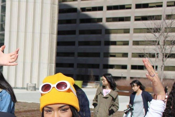 Urban Outfitters yellow beanie