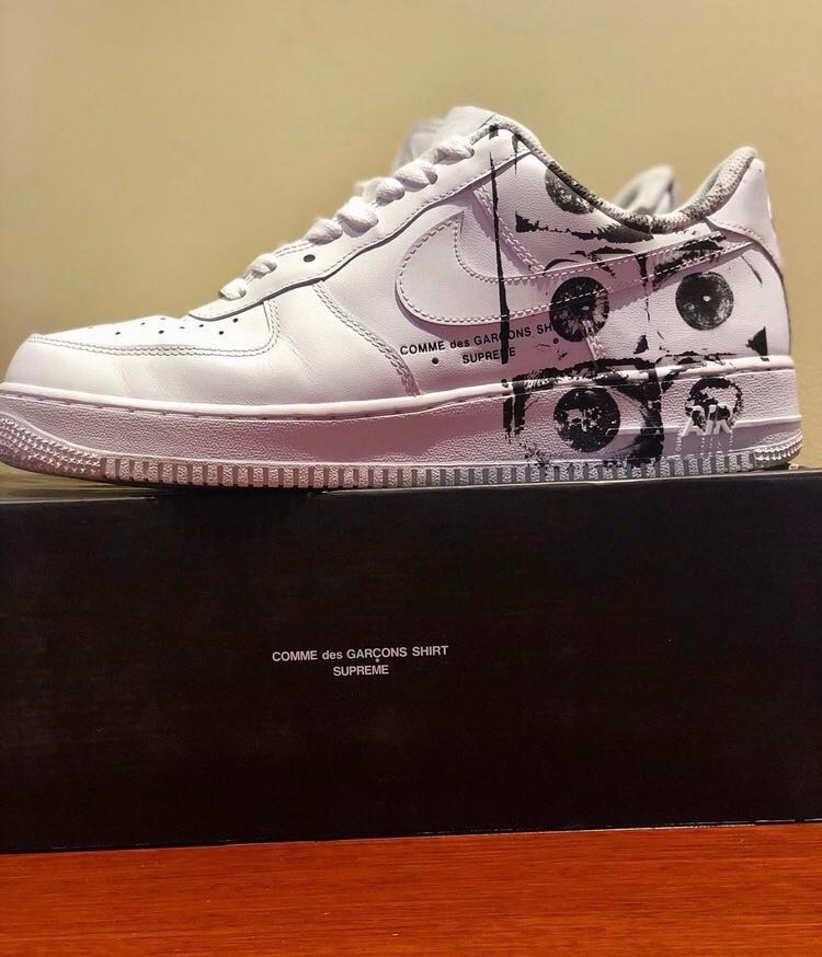 febb4bc53a Us10 Cdg supreme nike Air Force 1 Low