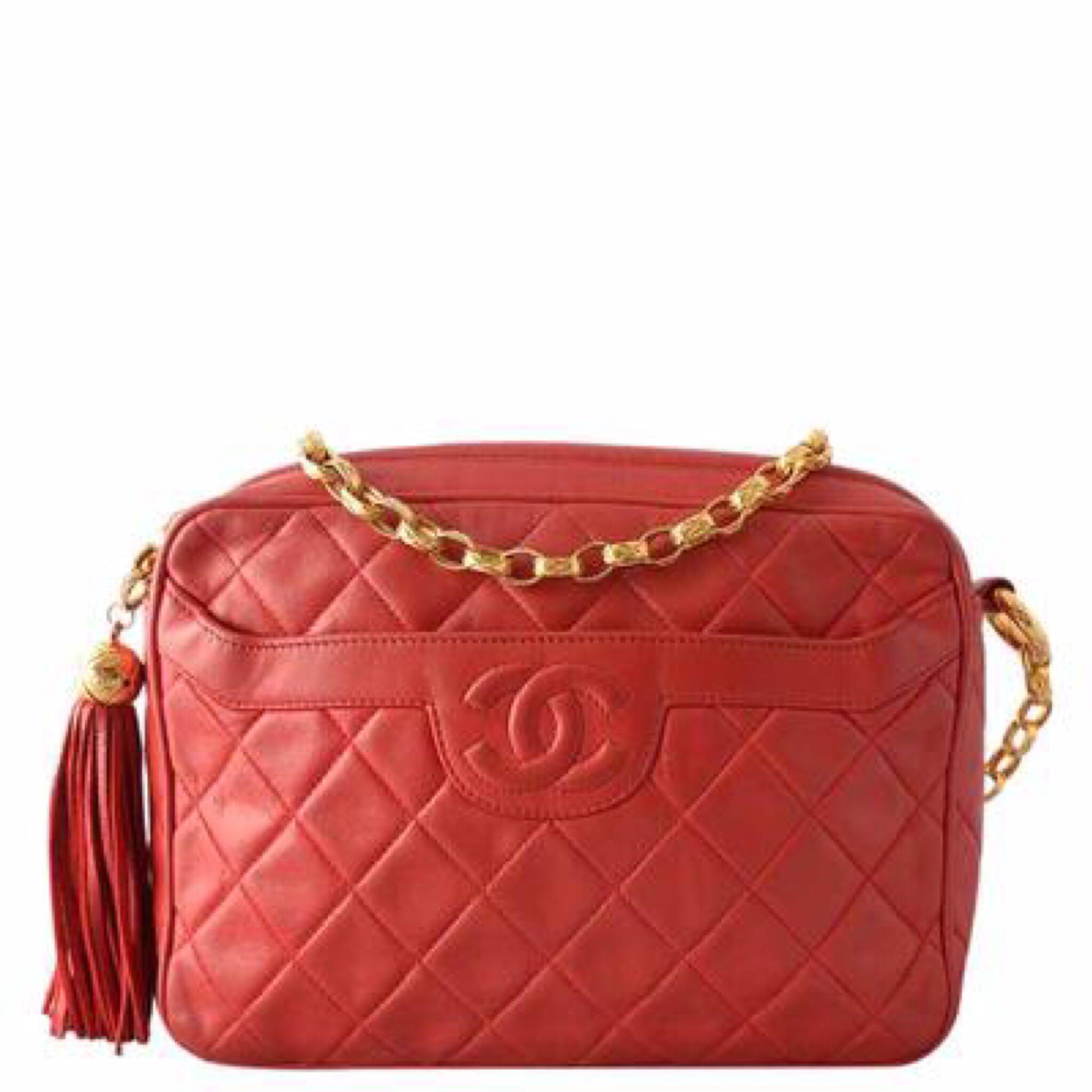 eee0b4d4a7b5 Vintage Chanel Quilted Lambskin Camera Bag w/ Tassel GHW, Luxury, Bags &  Wallets, Handbags on Carousell