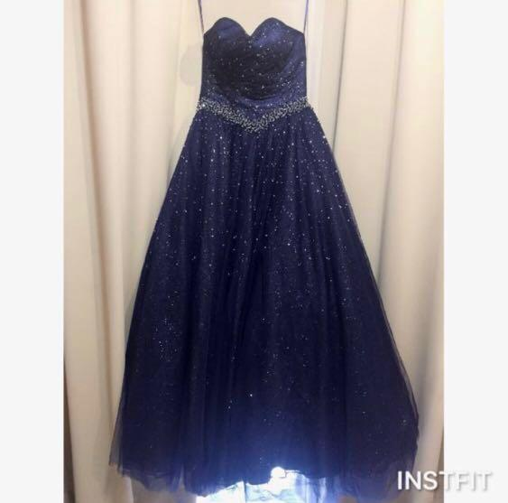 Wedding evening blue gown