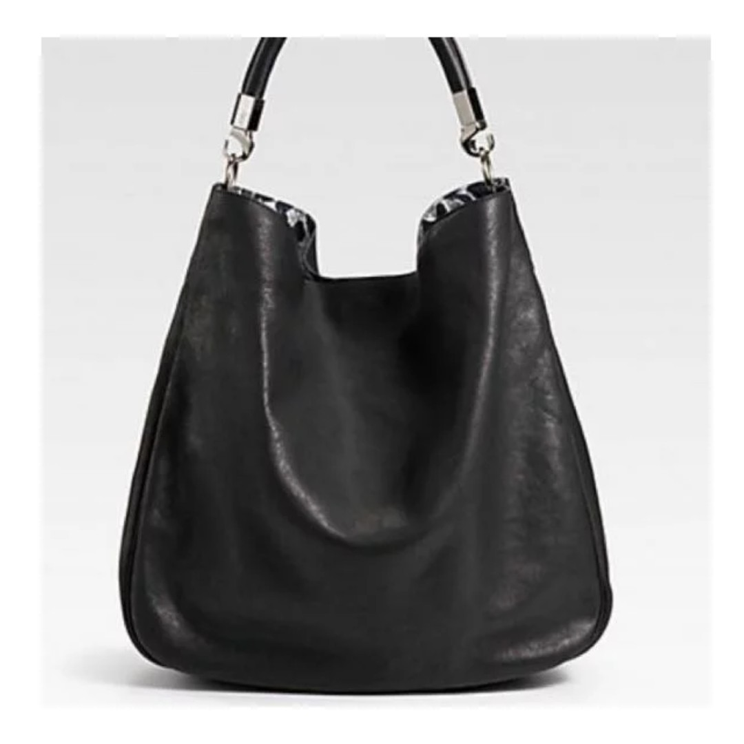 a396deb71663 Yves Saint Laurent (YSL) Roady Leather Hobo with Leopard-Print ...