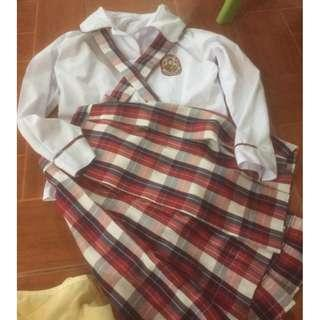 UNIVERSITY OF PERPETUAL HELP COMPLETE UNIFORM [USED IT ONLY FOR A WEEK]