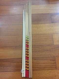 Long wooden chopsticks raw fish yu Sheng Korea Length 34.5cm