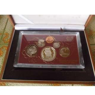 1984 Singapore Proof Coin Set ($1 Stylised Lion Silver Proof Coin)
