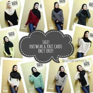 SALE ! Knitwear & Knit Cardi