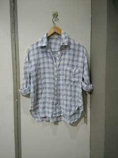 plaid polo fits S to M